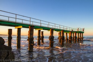 Learmonth jetty at sunset